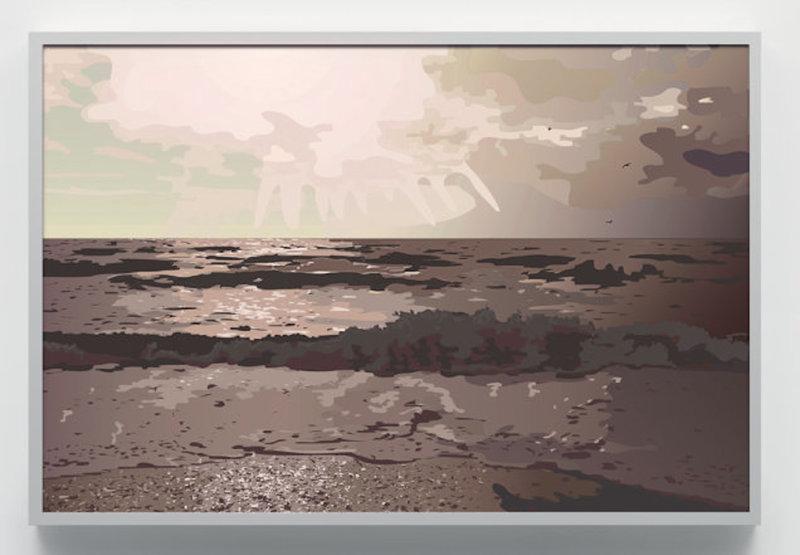 Julian OPIE - Estampe-Multiple - Rain Voices Surf