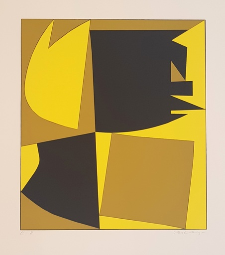 Victor VASARELY - Estampe-Multiple - Mappe mit 12 Serigraphien
