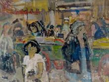 Marko STUPAR (1936) - Scène de marché