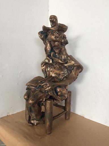 Salvador DALI - Sculpture-Volume - Don Quixote Seated (Prestige-scale)