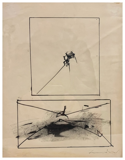 Emilio SCANAVINO - Drawing-Watercolor - Senza Titolo