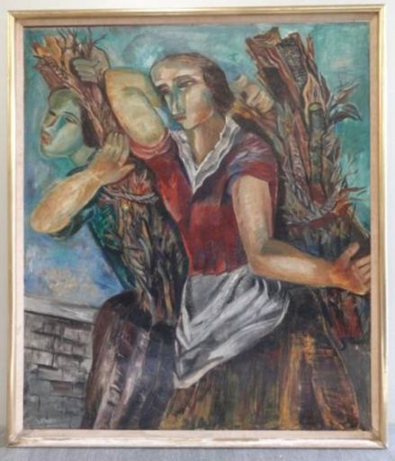 Valentine Henriette PRAX - 绘画 - Ramasseuses de Bois Mort