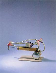 Louis CANE - Sculpture-Volume - Femme sur Fly-Tox