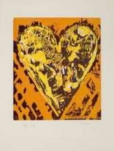Jim DINE - Stampa Multiplo - Woodcut Heart