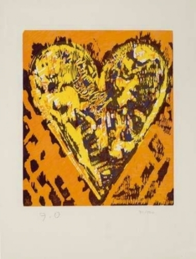 Jim DINE - Print-Multiple - Woodcut Heart