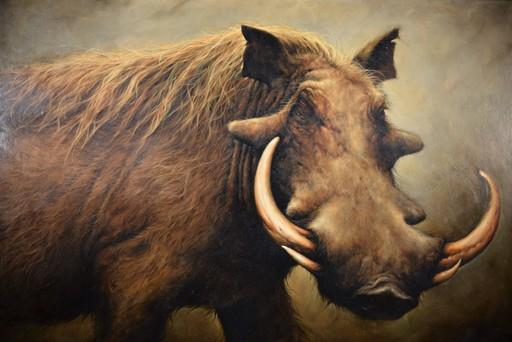 Nancy L. GLAZIER - Painting - Wild Boar