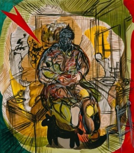 Sandro CHIA - Print-Multiple - Interior with dog