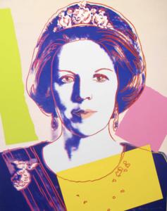 Andy WARHOL - Grabado - Queen Beatrix Of The Netherlands II.340