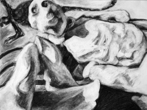 Flo JAOUEN - Drawing-Watercolor - « Pirouette cacahuète 3 »