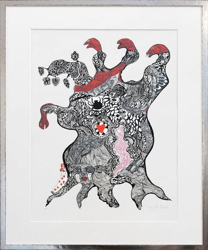 Niki DE SAINT-PHALLE - Print-Multiple - Arbre aux serpents- Tree of love