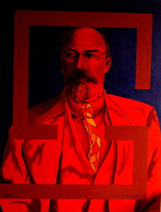 Rafael DE TOURS - Peinture - Karlequin Version 2 : Lenine