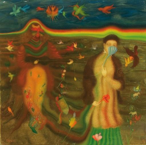 Erich BRAUER - Painting - Liederabend