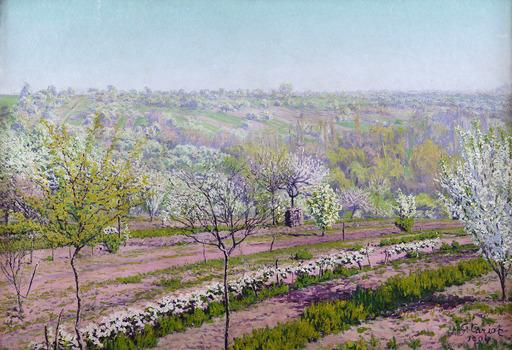 Gustave CARIOT - Pintura - Verger fleuri