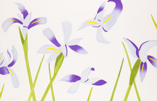 Alex KATZ - Grabado - Blue Irises