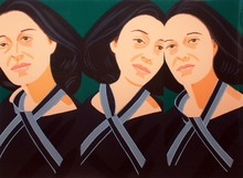 Alex KATZ - Estampe-Multiple - Gray Ribbon