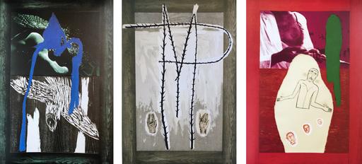 米莫·帕拉迪诺 - 版画 - Set of three mixed technique prints
