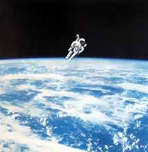 N.A.S.A. - Photography - Space Shuttle - Astronaut Bruce McCandless flying in space