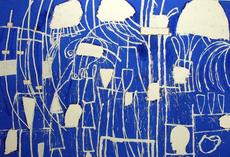 Mimmo PALADINO - Painting - Fuga in Egitto                 .