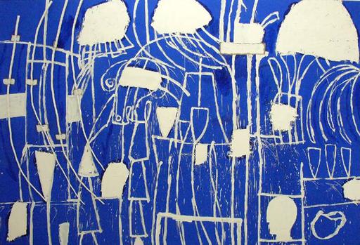 Mimmo PALADINO - Painting - Fuga in Egitto