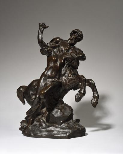 Aimé-Jules DALOU - Scultura Volume - Centaure enlevant une femme