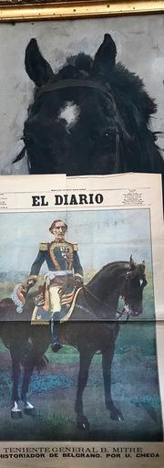 Ulpiano CHECA Y SANZ - Painting - Cheval  du Général  MITRE – Argentine - Argentina