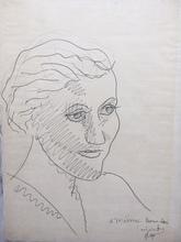 Fernand LÉGER - Dessin-Aquarelle - Portrait de Maria Lani
