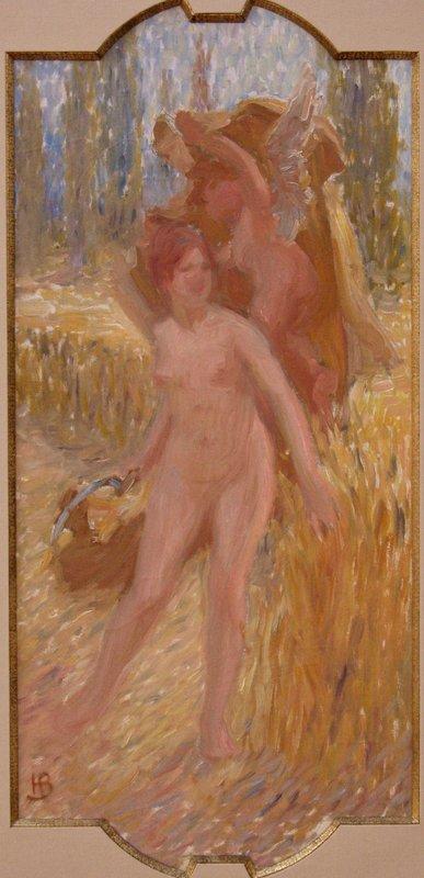 """Henri BONIS - Peinture - ETUDE POUR UNE """"ALLEGORIE DE LA MOISSON"""""""