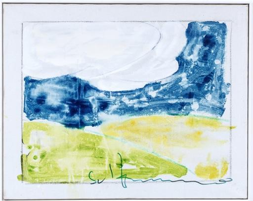 Mario SCHIFANO - Pintura - Paesaggio italiano