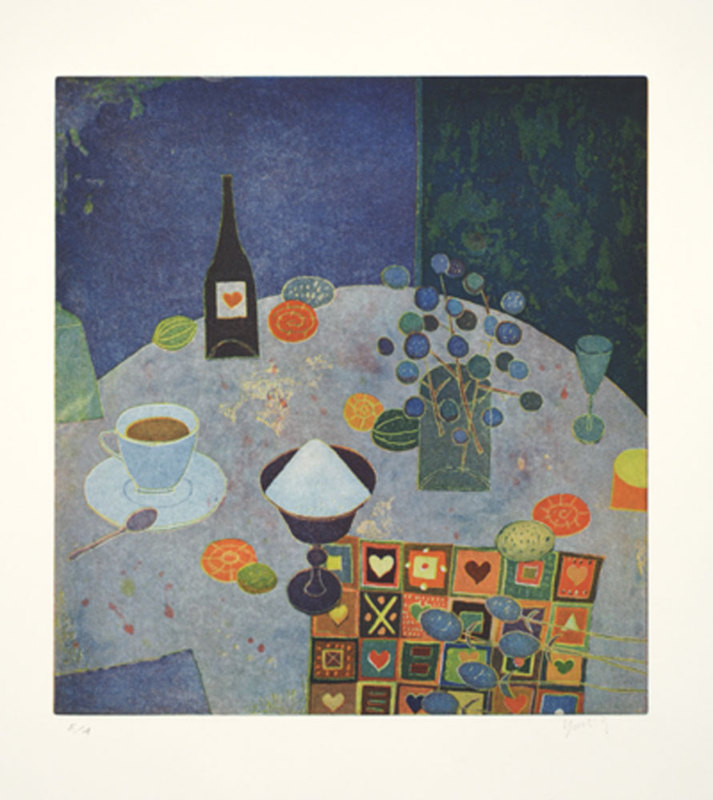 Yoshi TAKAHASHI - Estampe-Multiple - Stilleben mit Kaffee