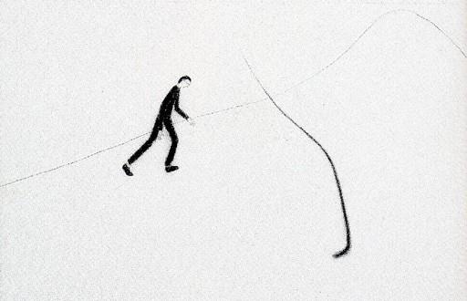 Giuliano GUATTA - Dibujo Acuarela - Escursione