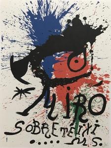 Joan MIRO - Print-Multiple - M920 Affiche Pour L'Exposition Sobreteixims