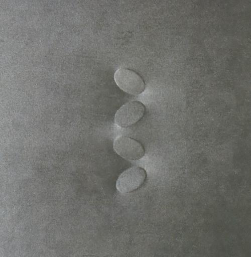 Turi SIMETI - Peinture - 4 OVALI   ( SILVER  GREY )