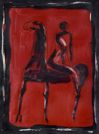 Marino MARINI - Peinture - Cavallo e Cavaliere