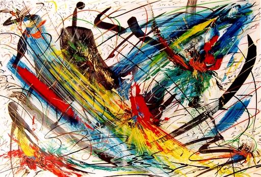 Didier ANGELS - Peinture - Fusion n°5