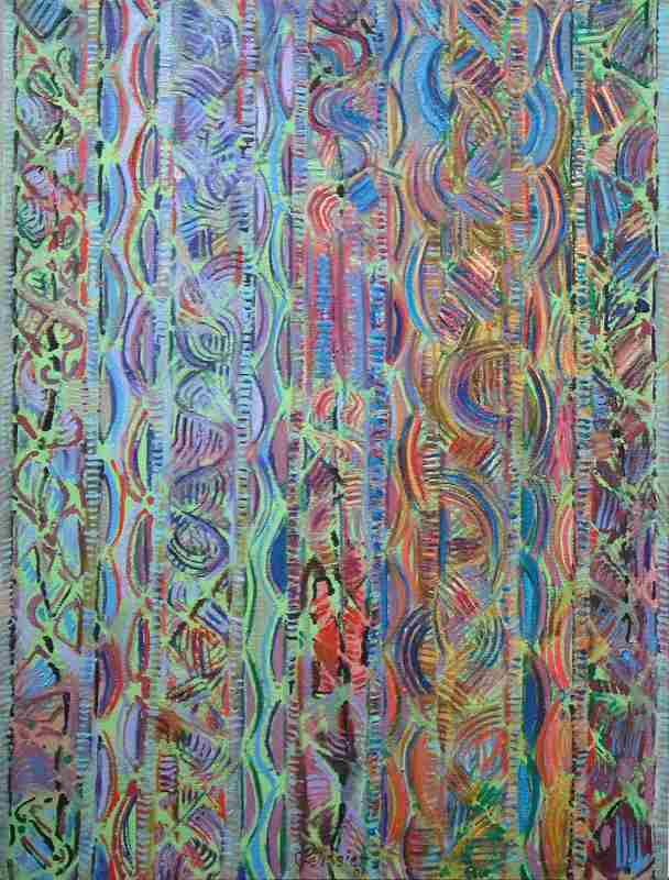 Gilbert PELISSIER - Pittura - Verticale n°1