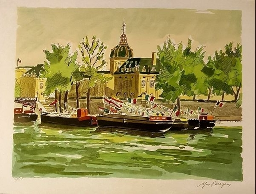 Yves BRAYER - Estampe-Multiple - PAYSAGE FLUVIAL