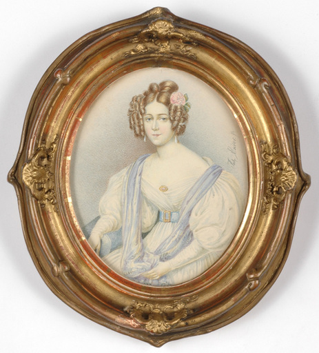 "Johann Nepomuk ENDER - Miniatur - Johann Nepomuk Ender (1793-1854) ""Portrait of a lady"""