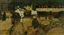 Pierre BONNARD - Pintura - Toulouse-Lautrec au café