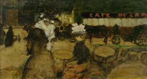 Pierre BONNARD - Painting - Toulouse-Lautrec au café