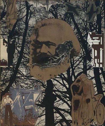 Michael GROBMAN - Disegno Acquarello - Leon Trotsky