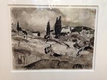 Hermann LISMANN - Dibujo Acuarela - St Remy