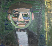 Artur NACHT-SAMBORSKI - Painting - Green head
