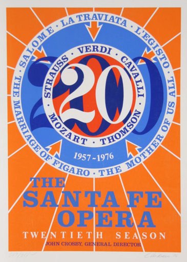 罗伯特•印第安纳 - 版画 - The Santa Fe Opera (Number 20)