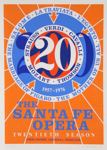 Robert INDIANA - Stampa Multiplo - The Santa Fe Opera (Number 20)