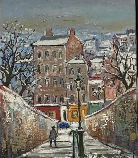 Bruno Émile LAURENT - Painting - Montmartre