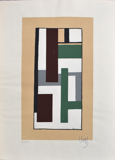 Fernand LÉGER - Stampa Multiplo - Geometric Composition, from: Album of Ten Serigraphs