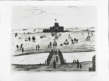 Laurence Stephen LOWRY - Estampe-Multiple - Castle by the Sea