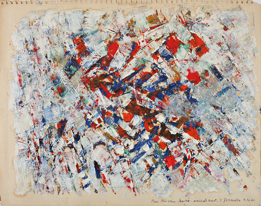 Jacques GERMAIN - Peinture - Composition