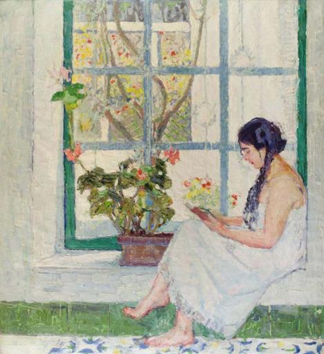 Renato TOMASSI - Gemälde - Finestra a Capri (1923)