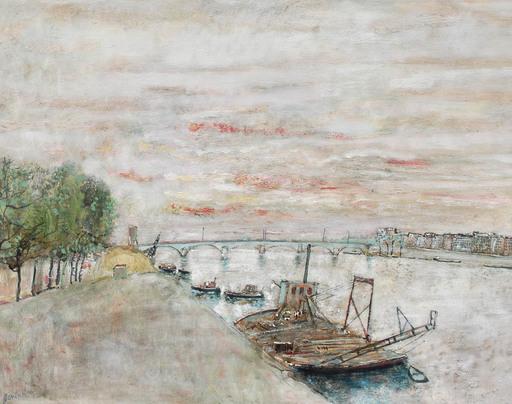 Bernard GANTNER - Pintura - le quai de Bercy